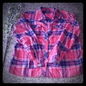 Eddie Bauer flannel plaid shirt